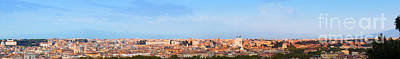 Photograph - Ultra Wide Panorama Of Rome by Michal Bednarek
