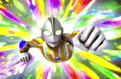 Disco Digital Art - Ultraman - Pa by Leonardo Digenio