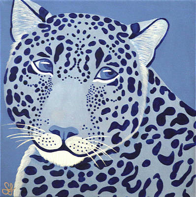 Painting - Ultramarine Jaguar by Sarah Jean
