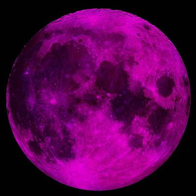 Photograph - Ultraviolet Moon by Mark Blauhoefer
