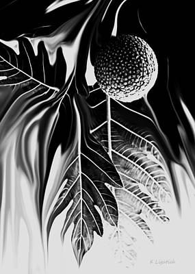 Digital Art - Ulu - Breadfruit Abstract by Kerri Ligatich