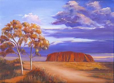 Uluru  - Ayers Rock Art Print by Robynne Hardison