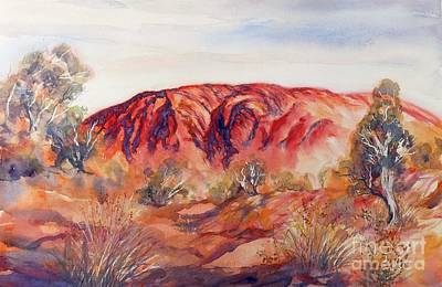 Painting - Uluru, Central Australia, by Ryn Shell