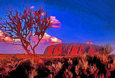 Uluru Art Print by Dennis Cox WorldViews