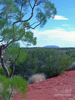 Photograph - Uluru From Lasseter Highway by Phil Banks