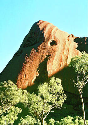 Photograph - Uluru Rocks And Trees. by Nareeta Martin