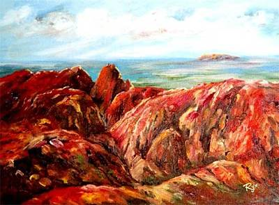 Painting - Uluru Viewed From Kata Tjuta by Ryn Shell