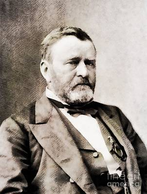 President Painting - Ulysess S. Grant, President Of The United Sates By John Springfield by John Springfield