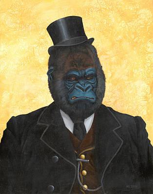 Painting - Ulysses K. Silverback  by Matt Ebisch