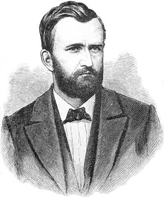 General Grant Drawing - Ulysses S. Grant Illustrative Portrait by ArtworkAssociates
