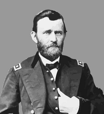 U.s Painting - Ulysses S Grant by War Is Hell Store