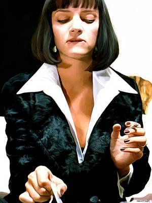 Digital Art - Uma Thurman @ Pulp Fiction by Gabriel T Toro