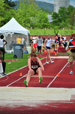 Photograph - Umass Athelete Takes Flight by Mike Martin