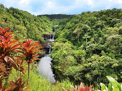 Photograph - Umauma Falls by Kristine Merc