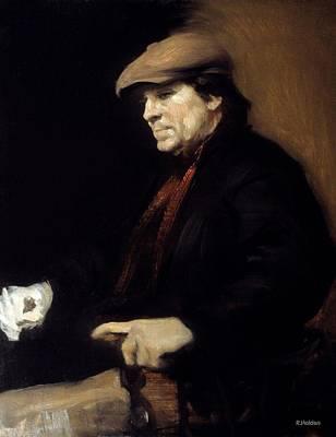 Painting - Umberto Wearing Flat Cap by Robert Holden
