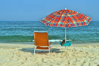 Photograph - Umbrella And Chair by Allen Beatty