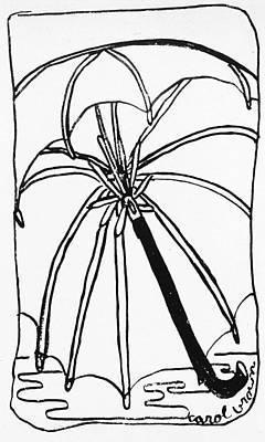 Drawing - Umbrella by Macaque