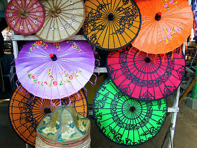 Photograph - Umbrella Color by Kurt Van Wagner
