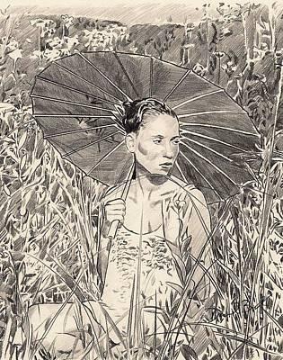 Umbrella Art Print by Darryl Barnes