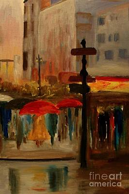 Painting - Umbrella Day by Julie Lueders