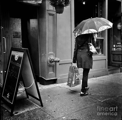Photograph - Umbrella Day New York by Miriam Danar