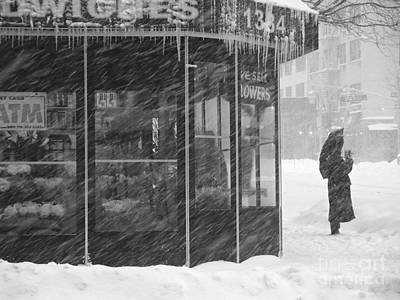 Photograph - Umbrella Day - Winter In New York by Miriam Danar