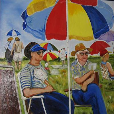 Painting - Umbrella Field by Roberta Martin