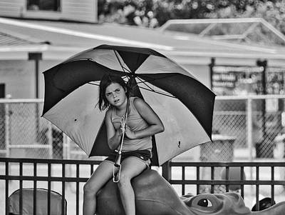 Photograph - Umbrella Girl by Linda Brown