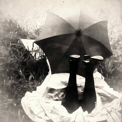 Daguerreotype Painting - Umbrella Girl by Mindy Sommers