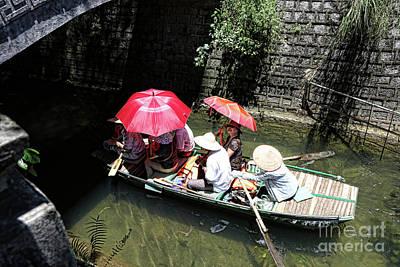 Photograph - Umbrella Hot Sun Vietnam  by Chuck Kuhn