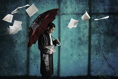 Conceptual Photograph - Umbrella Of Justice by Ayatullah R. Hiba