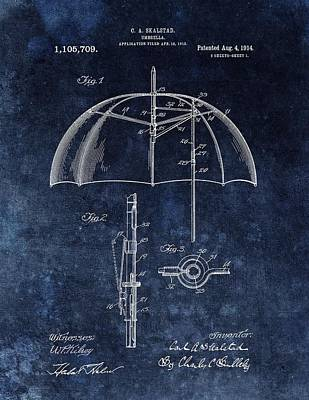 Rain Drawing - Umbrella Patent by Dan Sproul