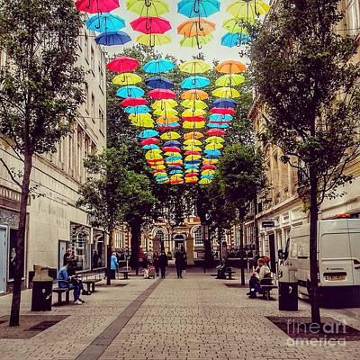 Bluecoat Photograph - Umbrella Sky 2 by Joan-Violet Stretch