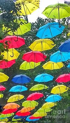 Photograph - Umbrella Sky 3 by Joan-Violet Stretch