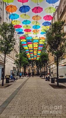 Photograph - Umbrella Sky by Joan-Violet Stretch