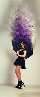 Umbrella Art Print by Nichola Denny