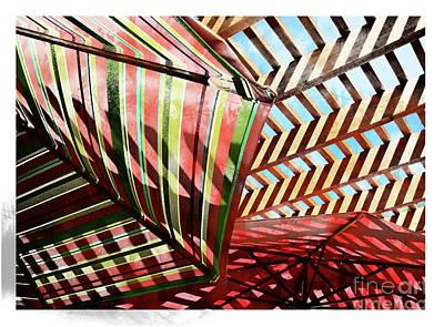 Umbrella Stipple Art Print by Deborah Nakano