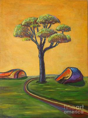 Painting - Umbrella Tree by Ushangi Kumelashvili