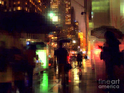Photograph - Umbrella Weather - New York In The Rain by Miriam Danar
