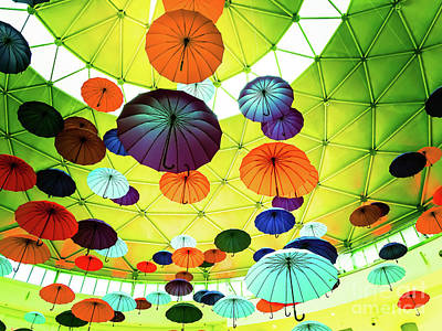Photograph - Umbrellas 1 by Camille Pascoe