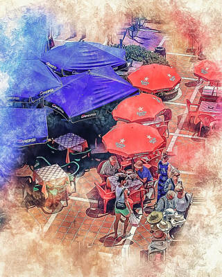 Photograph - Umbrellas by Brian Tarr