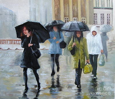 Painting - Umbrellas by Elena Oleniuc