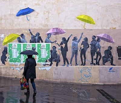 Photograph - Umbrellas In Paris by Gary Karlsen