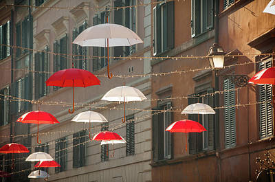 Photograph - Umbrellas In Rome by Jeremy Voisey
