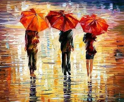 Umbrellas Original by Leonid Afremov