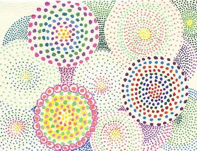 Umbrellas Art Print by Leslie Genser