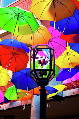 Photograph - Umbrellas Light by Greg Fortier