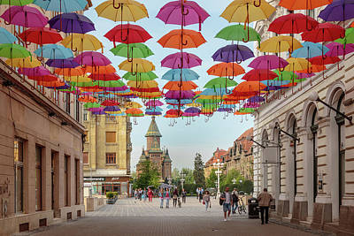 Photograph - Umbrellas by Michael Niessen