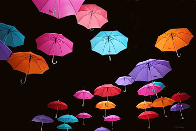 Photograph - Umbrellas Number 1 by Tom Conway