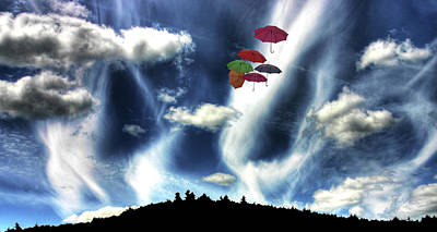 Photograph - Umbrellas Over Hobart Hill by Wayne King